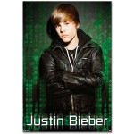 Justin Bieber Giant Green Mural