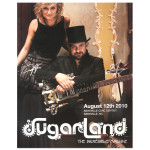 Sugarland 8/12/10 Asheville, NC Event Poster