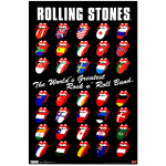 Rolling Stones Grid Poster
