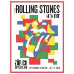 Rolling Stones Zurich Corbusier Poster
