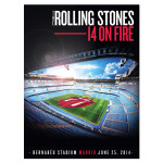 Rolling Stones Bernabeu Stadium Poster