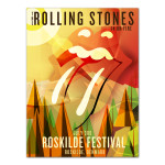 Rolling Stones Roskilde Abstract Poster