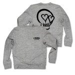 5SOS: Black Skull Grey Sweatshirt