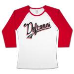 Deftones Throwback Girls 3/4 Sleeve Raglan Shirt