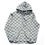 Trukfit Checker Full Zip Hoodie – Gunmetal Heather