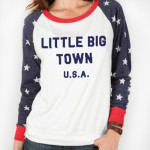 Little Big Town Woman's USA Raglan Shirt