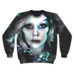 Lady Gaga Girls Sublimated Crew Neck Fleece