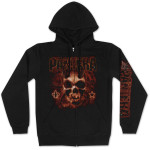 Pantera Flaming Skull Zip Hoodie