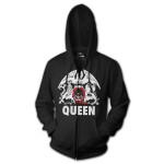 Queen Red Q Crest Logo Hoodie