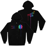 Red Hot Chili Peppers Paint Drip Zip Hoodie