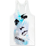Alicia Keys Eyes & Lips White Tank Top