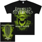 Avenged Sevenfold WTTF Green Skull 2011 Tour T-Shirt
