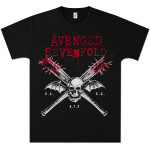 Avenged Sevenfold Bats on Black T-Shirt