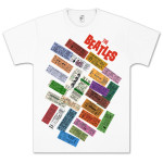 The Beatles- Tickets Stacked T-Shirt