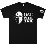 Bad Meets Evil Masks Square T-Shirt