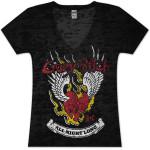Buckcherry Womens Burnout Winged Heart T-Shirt