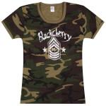 Buckcherry SGT Stripes Girlie T-Shirt