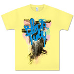 Black Tide Yellow Drip Tee