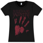 Bullet For My Valentine Ladies Heart Print T-Shirt