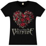 Bullet For My Valentine Flower Heart Girlie T-Shirt