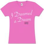 Susan Boyle Script Dreamed Pink Missy T-Shirt