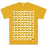 Capitol Records Astral Grid T-Shirt on Mustard