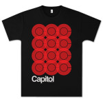 Capitol Records Overlay T-Shirt on Black
