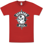 Cypress Hill Skull And Compass Red T-Shirt