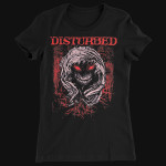 Disturbed Scratched Face Girlie T-Shirt