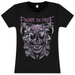 Escape the Fate Flower Skull Junior T Shirt