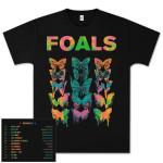 Foals Neon Butterfly Dateback T-Shirt