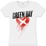 Green Day Cross My Heart Ladies T-Shirt