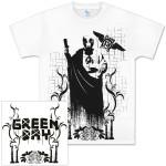 Green Day Jesus Burbs White T-Shirt