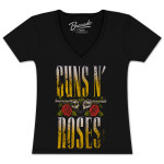 Guns N Roses Ladies Big Guns V-Neck