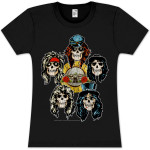 Guns N Roses Heads Vintage Babydoll T-Shirt