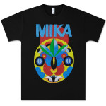 Mika Black Tribal Mask Tee