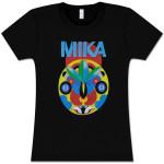 Mika Black Tribal Mask Girls Tee