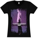 Justin Bieber NSN Pattern Girlie T-Shirt