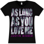 Justin Bieber As Long As You Love Me Photo Babydoll