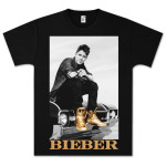 Justin Bieber Gold Foil Car T-Shirt