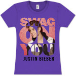 Justin Bieber Swag On Girlie T- Shirt