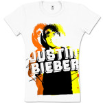 Justin Bieber Yellow Photo Girls T-Shirt