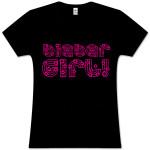 "Justin Bieber ""Bieber Girl"" Black T-Shirt"