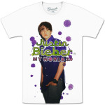 Justin Bieber White Splatter T-Shirt