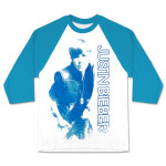 Justin Bieber Blue Vest Photo Girlie Raglan
