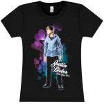 Justin Bieber Bubble Hearts Girls Fitted T-Shirt