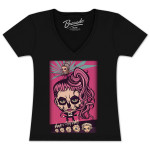 Lady Gaga Ladies Plus Size Born Cartoon T-Shirt