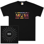 Muse Album Overlay Date Back T-Shirt