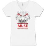 Muse Memory Failure White V-Neck T-Shirt