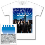 New Kids on the Block White Boston Tour T-Shirt